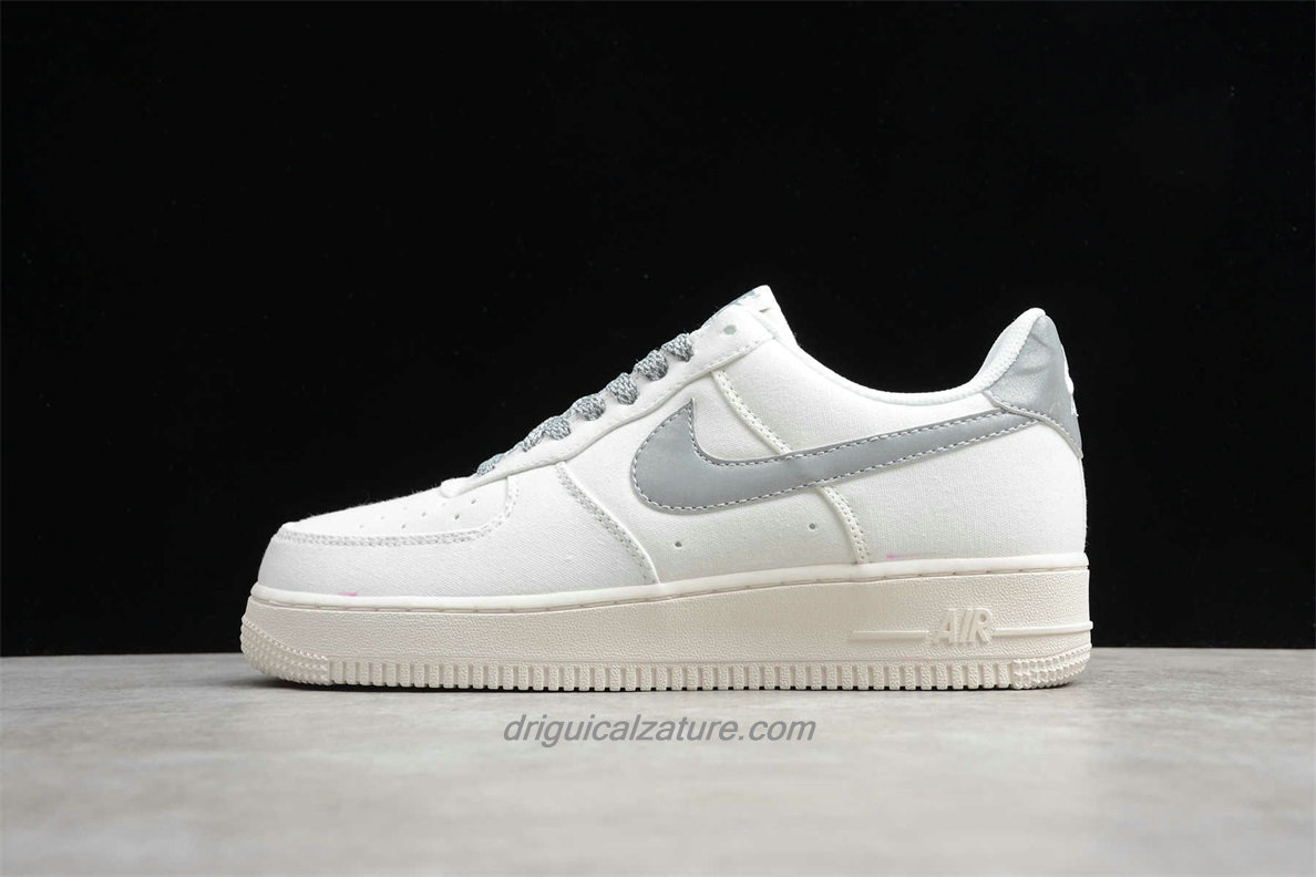 Scarpe 2020 Nike Air Force 1 07 Low 315122106 Bianca / Argento