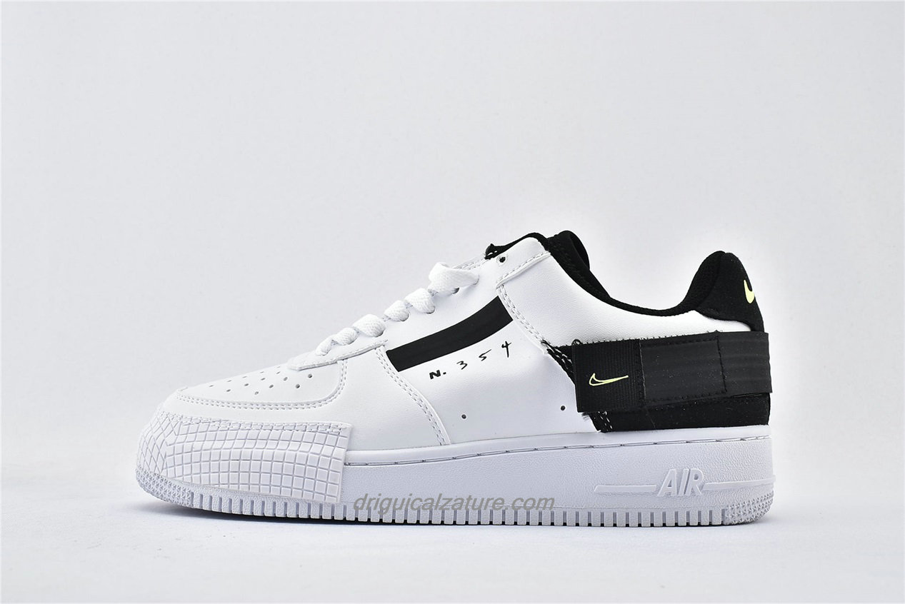 Scarpe Nike Air Force 1 AF1 TYPE Low AT7859 101 Bianca / Nero