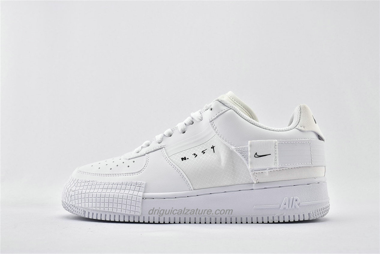 Scarpe Nike Air Force 1 AF1 TYPE Low CQ2344 101 Bianca