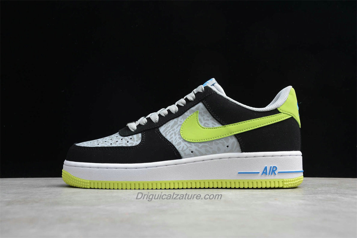 Scarpe Nike Air Force 1 Low 488298077 Nero / Grigio / Verde