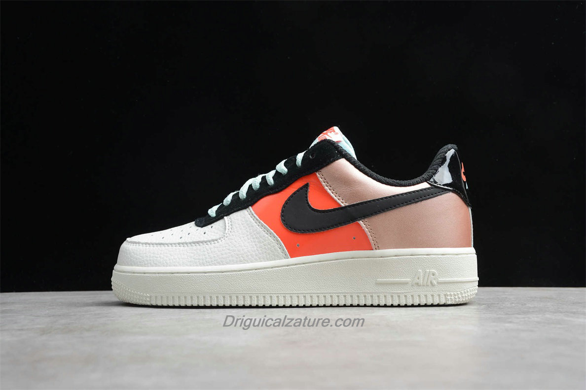 Scarpe Nike Air Force 1 Low LO CT3429 900 Bianca / Arancia / Oro