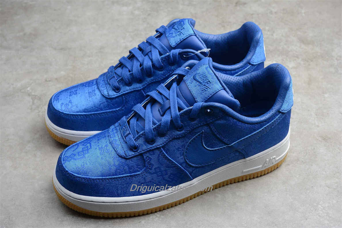 Scarpe Nike Air Force 1 Low PRM CLOT CJ5290 400 Uomo Blu