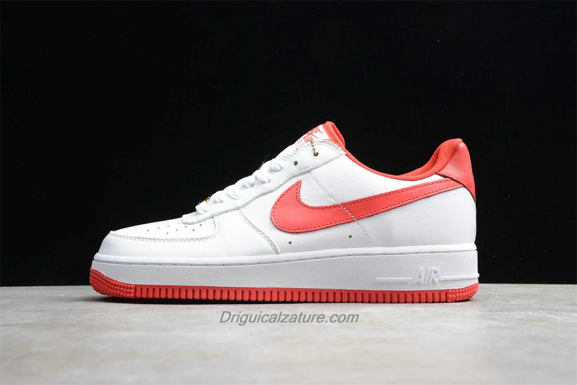 Scarpe Nike Air Force 1 Low RETRO CT16 QS AQ5107 100 Bianca / Rosso