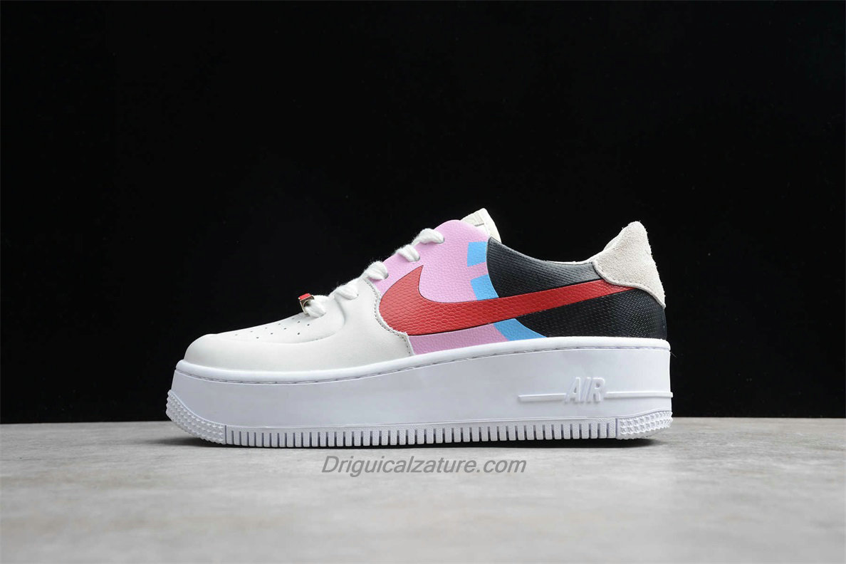 Scarpe Nike Air Force 1 Sage Low LX Platform BV1976 003 Donna Nero / Rosa / Bianca