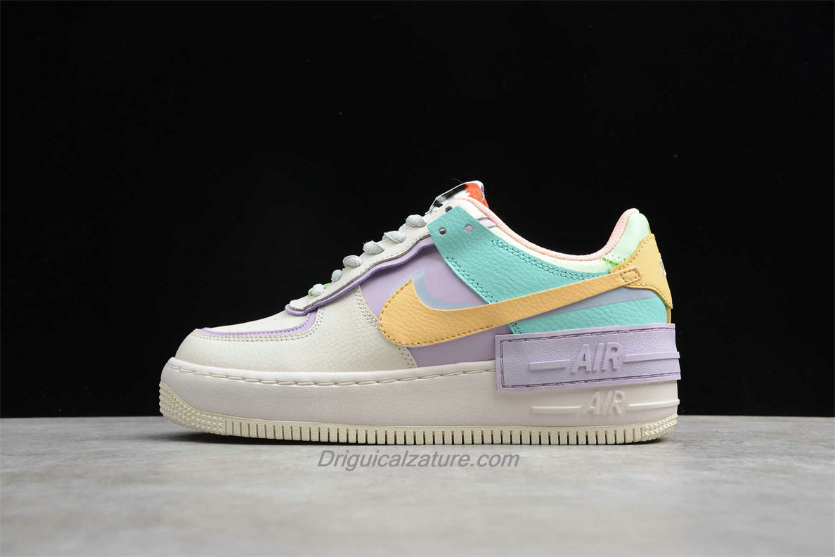 air force 1 beige e bianche