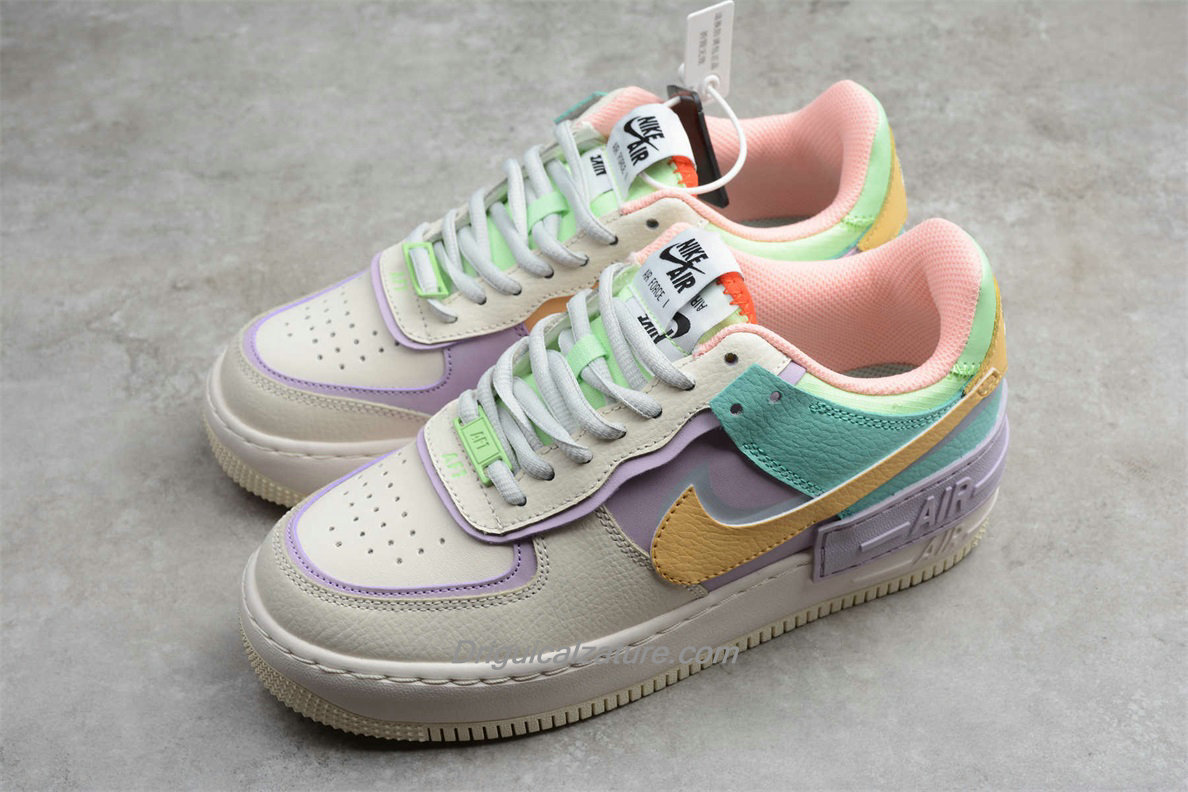 air force 1 donna bianche e gialle