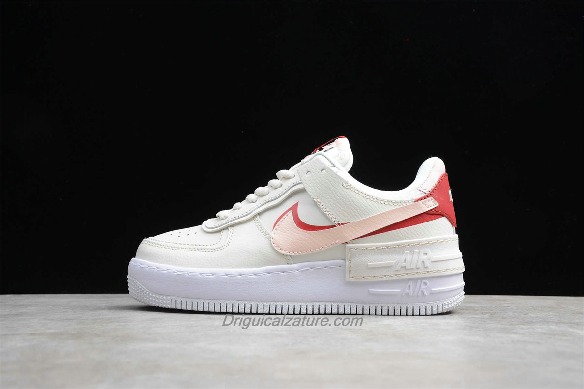 Scarpe Nike Air Force 1 Shadow CI0919 003 Donna Bianca / Rosa / Rosso