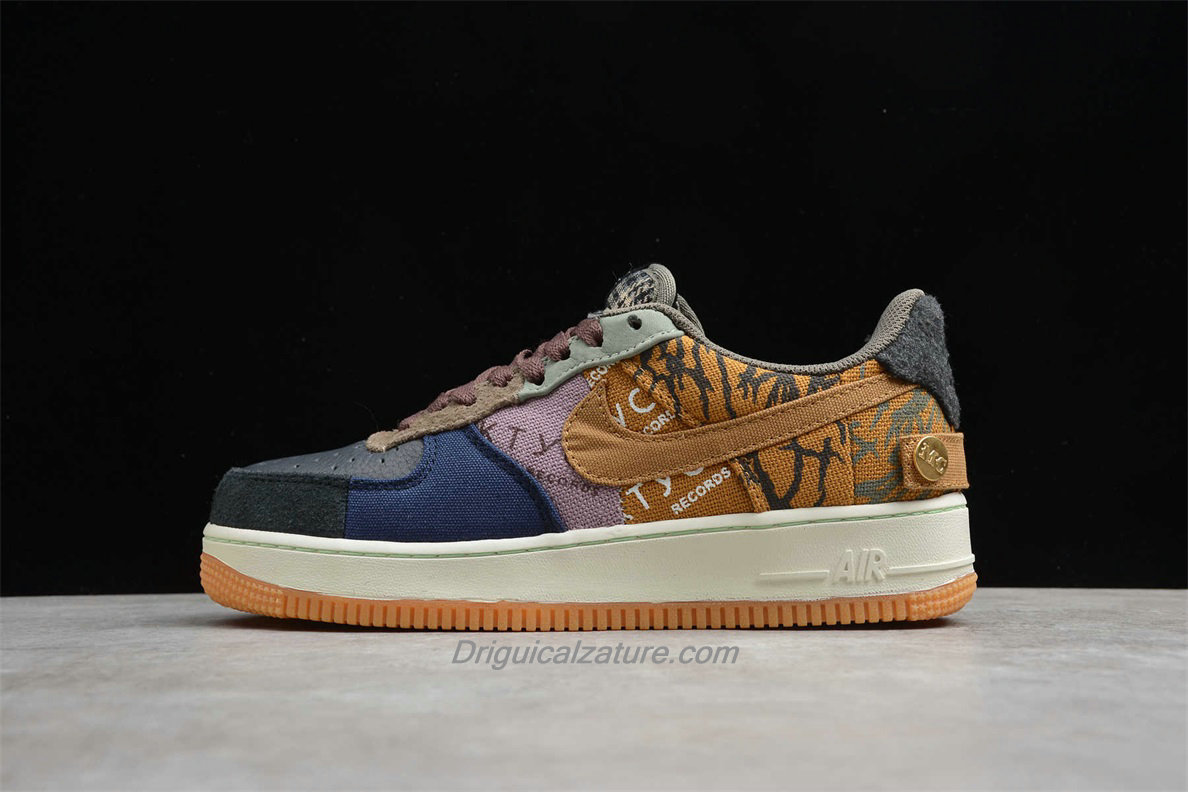Scarpe Nike Air Force 1 Low TRAVIS SCOTT CN2405 900 Nero / Blu / Cachi